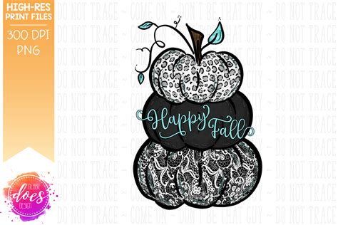 happy fall lacey pumpkins printablesublimation file