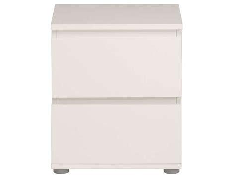 chevet 2 tiroirs neo coloris blanc vente de chevet