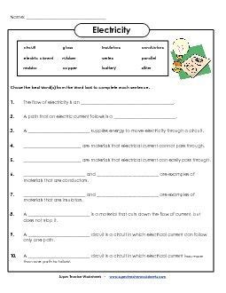 preview  education science worksheets science
