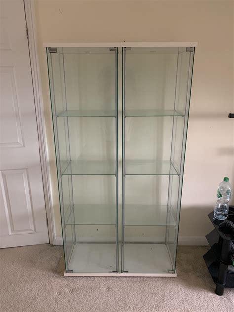 ikea  tier white glass display cabinet  en hatfield