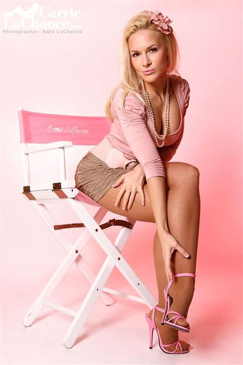 Model Carrie Lachance Pinup Pink High Heels