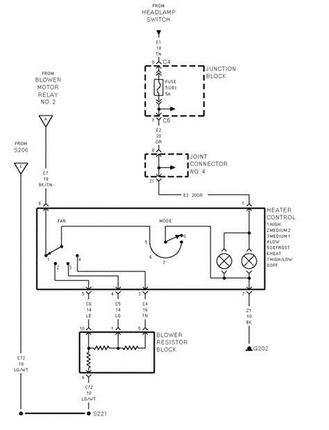 2002 Caravan Heater Wiring by Er Motor Resistor Connector Impremedia Net