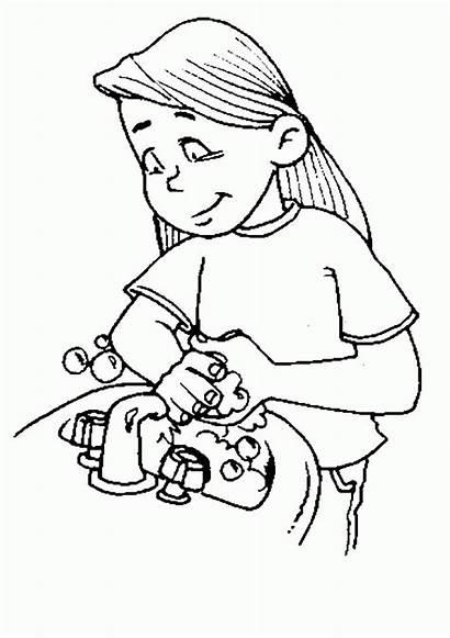 Coloring Washing Drawing Hygiene Handwashing Sheets Practice