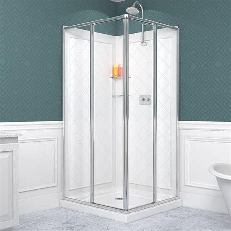 Glass Shower Enclosure Kits by Dreamline Dl 6150 01 Cornerview Sliding Shower Enclosure