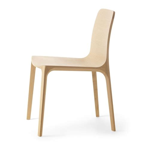 chaise pedrali frida 752 design chair by pedrali in solid oak wood