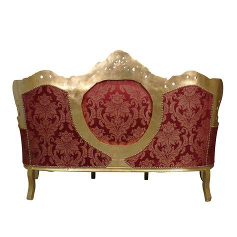 canap style baroque pas cher canapé baroque et or meuble baroque en bois doré