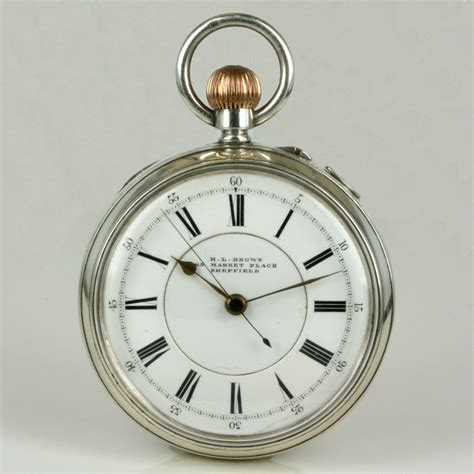Buy Silver Antique Pocket Watch By Hl Brown Sold Items