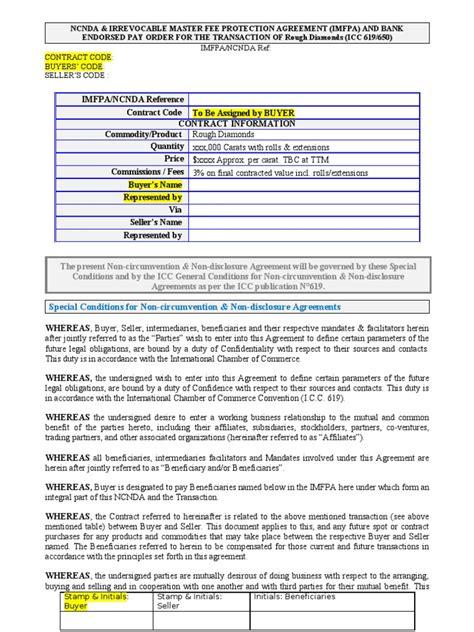 imfpa ncnda wire transfer financial transaction