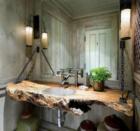waschbecken für badezimmer 23 fantastische rustikale badezimmer design ideen