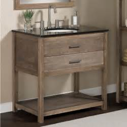 modern rustic granite top bathroom sink vanity wood 1 drawer storage