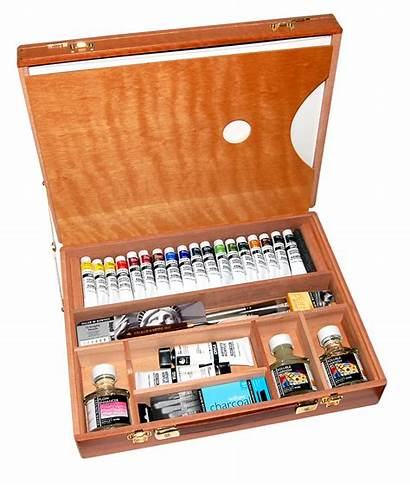 Wooden Boxes Rowney Daler Supplies Supply Acrylics