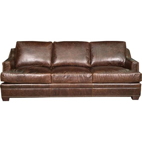 antique 97 quot brown leather sofa
