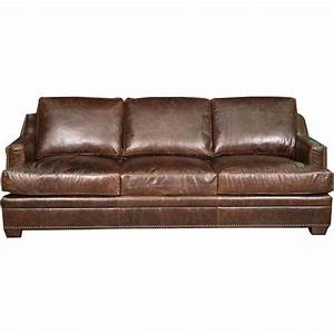 antique 97quot brown leather sofa With brown leather sofa
