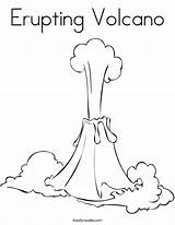 Volcano Coloring Erupting Drawing Volcanoes Eruption Pages Colouring Cartoon Worksheet Island Drawings Printable Sheets Vulcano Kindergarten Noodle Twisty Fire Volcanos sketch template