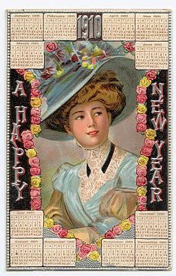vintage  years clip art  calendar card