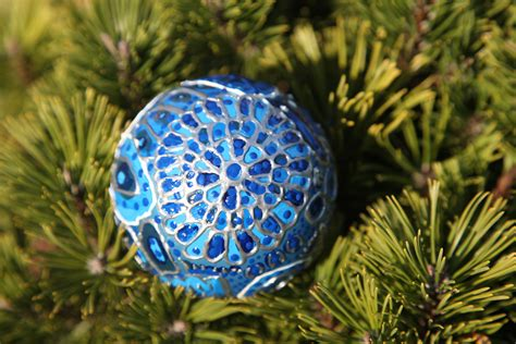 christmas ornament blue winter peacock photo 2 by