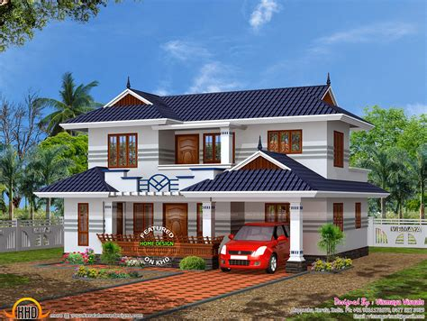 typical kerala house plan kerala home design  floor plans