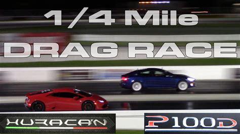 Stock 2016 Tesla Model S P100d Ludicrous 1/4 Mile Drag