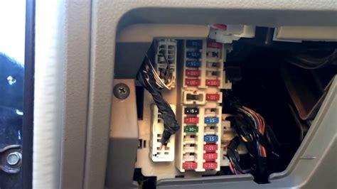 Nissan Altima Fuse Box Location Youtube
