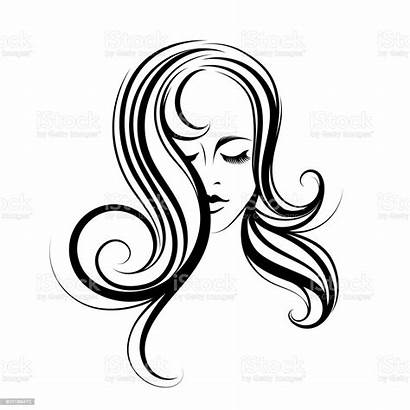 Hair Wavy Salon Woman Vector Icon Elegant