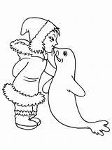 Coloring Eskimo Pages Igloo Kiss Getcolorings Printable Getdrawings sketch template