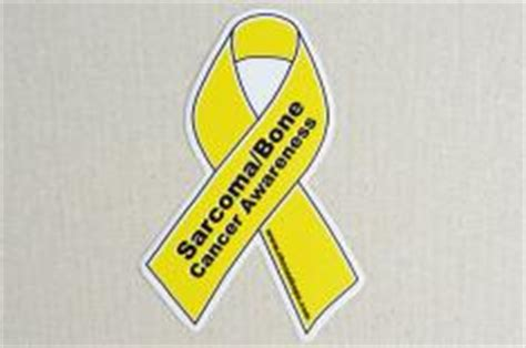 bone cancer ribbon color sarcoma bone cancer awareness products yellow choose
