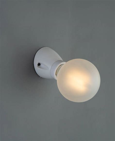 porcelain wall light vertical or angled vintage style bulb