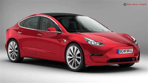 Tesla Model 3 2018 3d Model  Buy Tesla Model 3 2018 3d