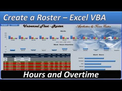roster excel vba create  roster roster template
