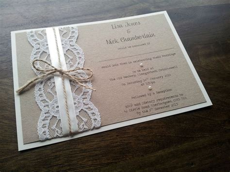 sle personalised handmade vintage chic lace wedding