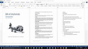 Bill Of Materials Template  Ms Word  Excel   U2013 Templates