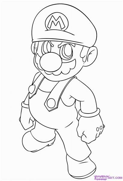 Mario Step Draw Drawing Super Characters Brothers