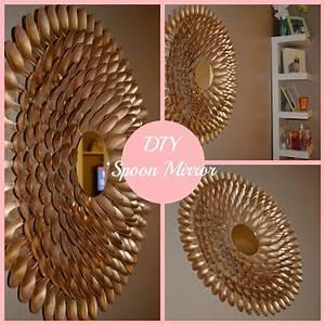 Diy spoon mirror wall decor s