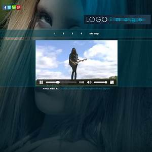 musician web templates aria html5 music website design With html5 video player template