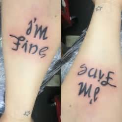 Depression I'm Fine SaveMe Tattoo