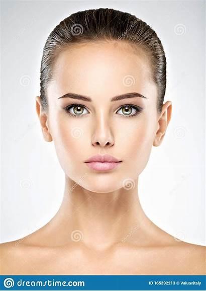Face Portrait Woman Fresh Frontal Clen Retrato