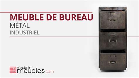 bureau industriel vintage meuble bureau industriel métal noir