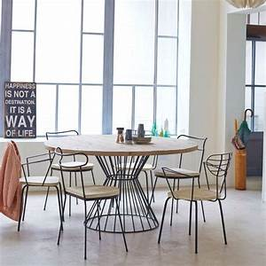17 meilleures idees a propos de table ronde bois sur With deco cuisine avec chaise metal salle a manger