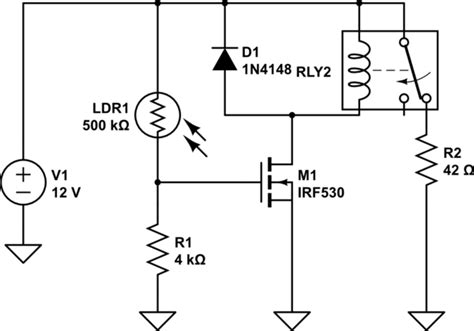 switches how to avoid infinite on loop of a voltage controlled with a photoresistor