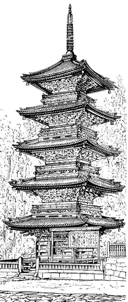 pagoda temple clipart clipground