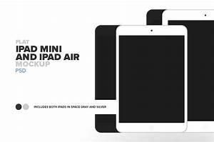 Flat Apple iPad Air and iPad Mini ~ Mobile & Web Mockups ...