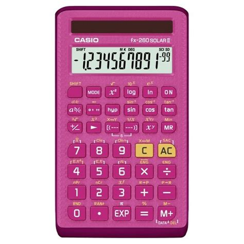 Casio Fx-260SolarII Scientific Calculator - Pink (260PK ...