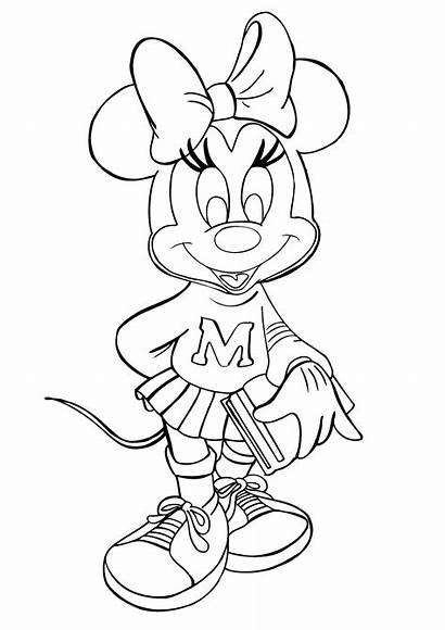 Minnie Mouse Coloring Pages Mickey Birthday Printable