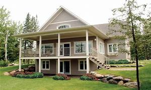 Waterfront house plans with walkout basement modern for Waterfront house plans modern
