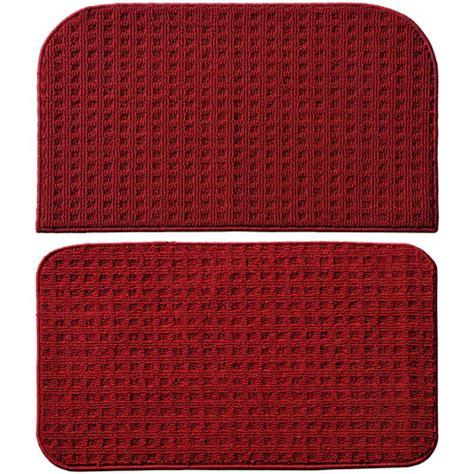 kitchen slice rugs garland rug herald square 2pc kitchen rug slice and mat