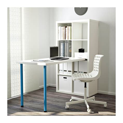 kallax bureau kallax desk combination white blue 77x147 cm ikea