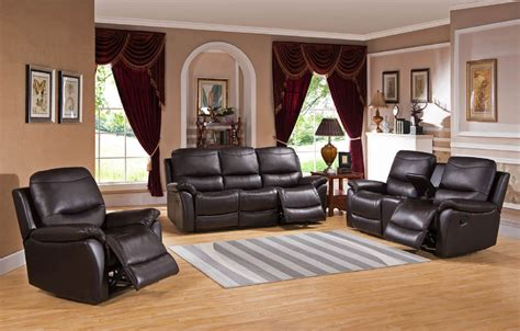 Leather Reclining Sofa Set by Pisa Top Grain Black Leather Reclining Sofa Set Usa