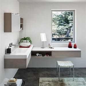 meuble rangement salle de bain les solutions deco qui With coiffeuse salle de bain