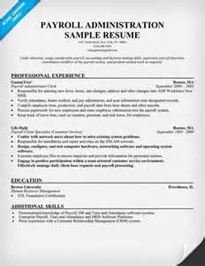 hr payroll resume exles pin payroll clerk resume exle 187 on
