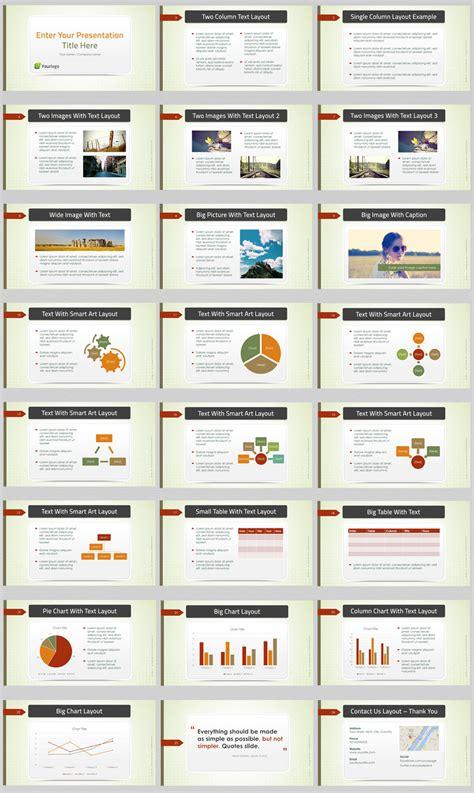green business powerpoint template  business